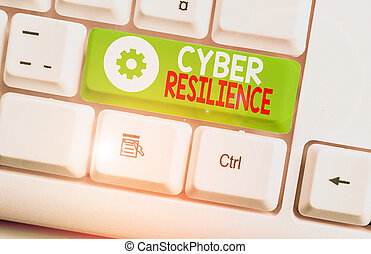 Text sign showing Cyber Resilience. Conceptual photo measure...