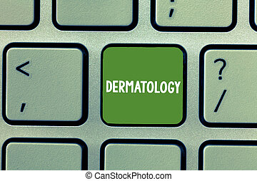 Text sign showing Dermatology. Conceptual photo Cosmetic...