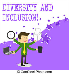 Text sign showing Diversity And Inclusion. Conceptual photo ...