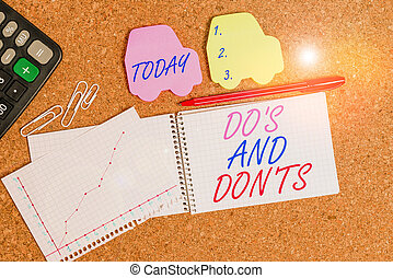 Text sign showing Do S And Don Ts. Conceptual photo ...