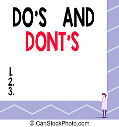 Text sign showing Do S Is And Dont S Is. Conceptual photo ...