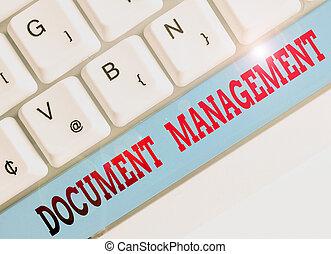 Text sign showing Document Management. Conceptual photo ...