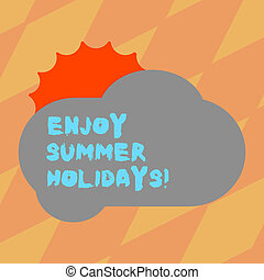 Text sign showing Enjoy Summer Holidays. Conceptual photo ...