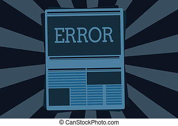 Handwriting text error  concept meaning mistake condition of being