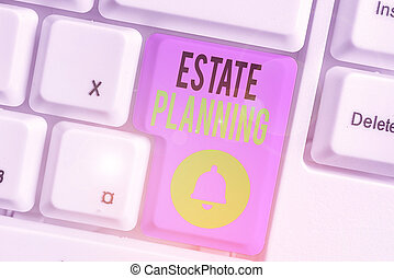 Text sign showing Estate Planning. Conceptual photo ...