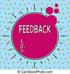 Text sign showing Feedback. Conceptual photo information ...