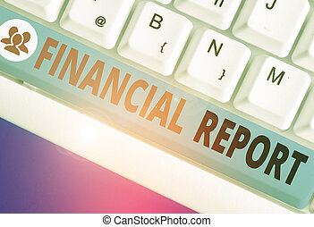 Text sign showing Financial Report. Conceptual photo formal records of the financial activities of a business.