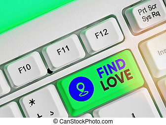 Text sign showing Find Love. Conceptual photo affection for ...