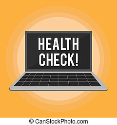 Text sign showing Health Check. Conceptual photo Medical Examination Diagnosis Tests to prevent diseases.