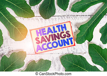 Text sign showing Health Savings Account. Conceptual photo users with High Deductible Health Insurance Policy.