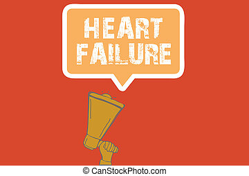 Text sign showing Heart Failure. Conceptual photo Failure of...