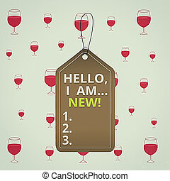 Text sign showing Hello I Am New. Conceptual photo used ...