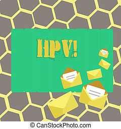 Text sign showing Hpv. Conceptual photo Huanalysis ...