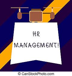 Text sign showing Hr Management. Conceptual photo strategic ...