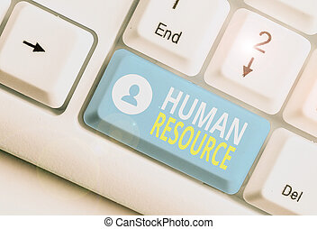 Text sign showing Huanalysis Resource. Conceptual photo the ...