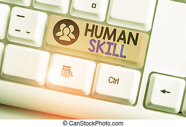 Text sign showing Huanalysis Skill. Conceptual photo involve...