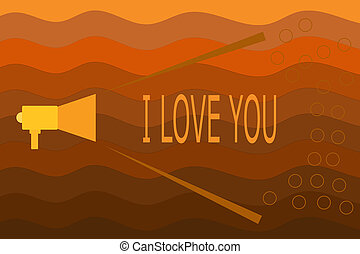 Text sign showing I Love You. Conceptual photo Expressing ...