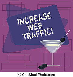 Text sign showing Increase Web Traffic. Conceptual photo ...