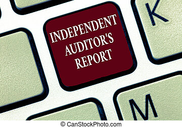 Text sign showing Independent Auditor s is Report....