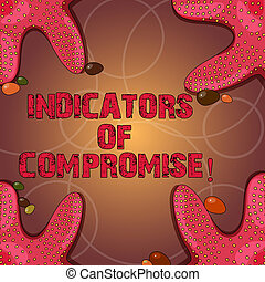 Text sign showing Indicators Of Compromise. Conceptual photo artifact observed on a network Forensic data Starfish photo on Four Corners with Colorful Pebbles for Poster Ads Cards.