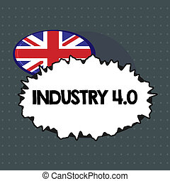 Text sign showing Industry 4.0. Conceptual photo Current ...