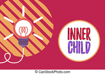 Text sign showing Inner Child. Conceptual photo the ...