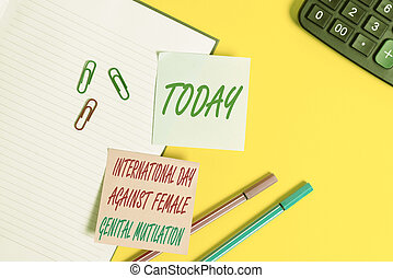 Text sign showing International Day Against. Conceptual...