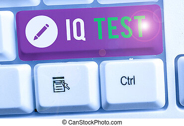 Text sign showing Iq Test. Conceptual photo attempt to ...