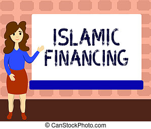 Text sign showing Islamic Financing. Conceptual photo...