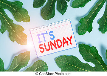 Text sign showing It S Sunday. Business photo text Day of rest and religious worship Part of the weekend