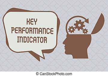 Text sign showing Key Performance Indicator. Conceptual photo how effective one can reach his objectives