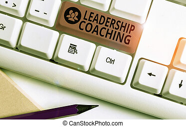 Text sign showing Leadership Coaching. Conceptual photo ...