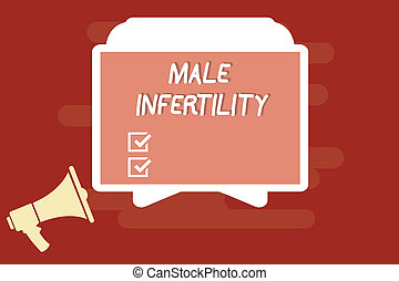 Text sign showing Male Infertility. Conceptual photo...