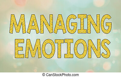 Text sign showing Managing Emotions. Conceptual photo ...