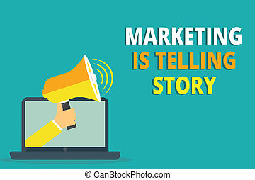 Text sign showing Marketing Is Telling Story. Conceptual photo Breathe Life into the Brand Product or service