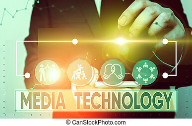 Text sign showing Media Technology. Conceptual photo process...