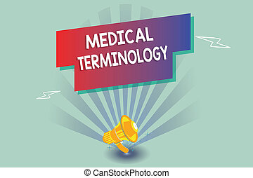 Text sign showing Medical Terminology. Conceptual photo ...