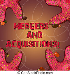 Text sign showing Mergers And Acquisitions. Conceptual photo Refers to the consolidation of companies or assets Starfish photo on Four Corners with Colorful Pebbles for Poster Ads Cards.