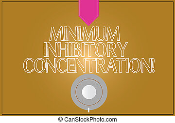 Text sign showing Minimum Inhibitory Concentration....