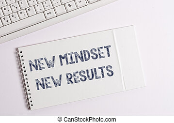 Text sign showing New Mindset New Results. Conceptual photo obstacles are opportunities to reach achievement.