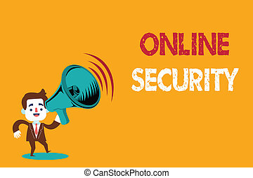 Text sign showing Online Security. Conceptual photo rules to protect against attacks over the Internet