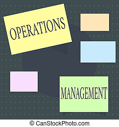 Text sign showing Operations Management. Conceptual photo...