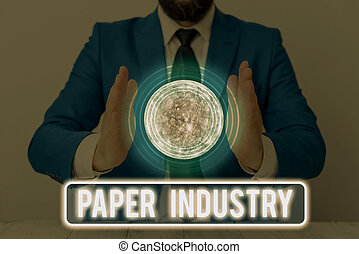 Text sign showing Paper Industry. Conceptual photo industry ...