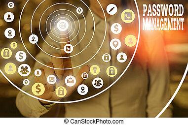 Text sign showing Password Management. Conceptual photo ...