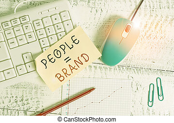 Text sign showing People Brand. Conceptual photo Personal ...