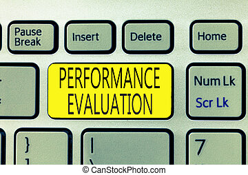 Text sign showing Performance Evaluation. Conceptual photo ...