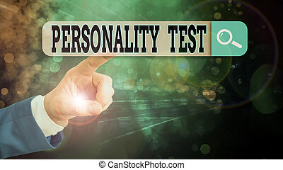 Text sign showing Personality Test. Conceptual photo A ...