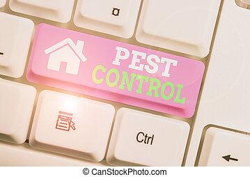 Text sign showing Pest Control. Conceptual photo ...