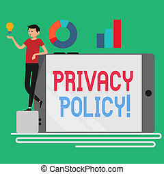 Text sign showing Privacy Policy. Conceptual photo statement...