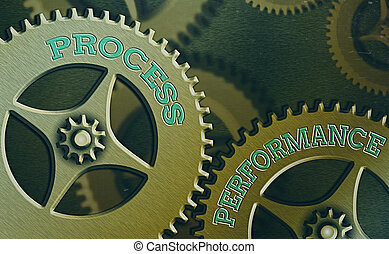 Text sign showing Process Performance. Conceptual photo Measures Process effectively Meet organizations Objective.
